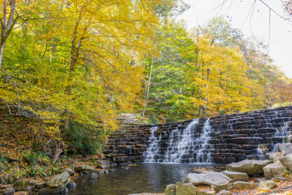 Waterfall at Laurel Hill State Park