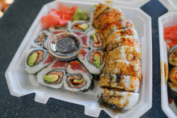 Sushi from Andy's in the Strip District