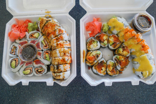 Sushi from Andy's in Wholey's