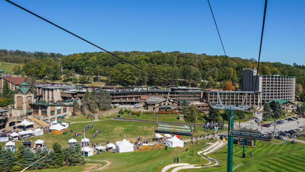 Seven Springs Mountain Resort from Above