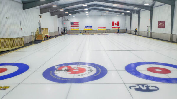 Ice at Pittsburgh Curling Club