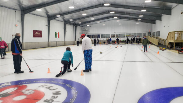 Angie's Form in Curling