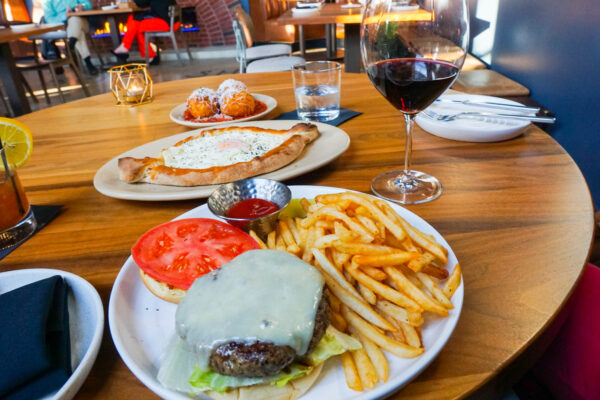 Burger and other dishes from Brick Shop