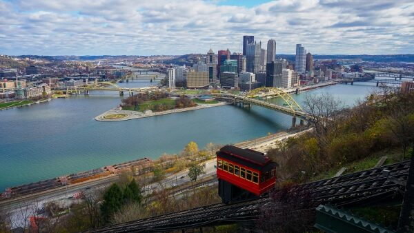 Duquesne Incline and Pittsburgh Skyline