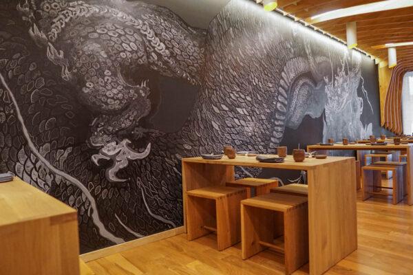 Dragon Mural at Gi-Jin