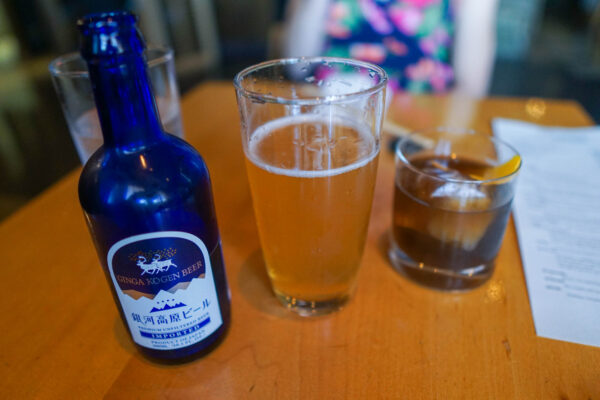 Japanese Beer and Old Fashioned at Umi