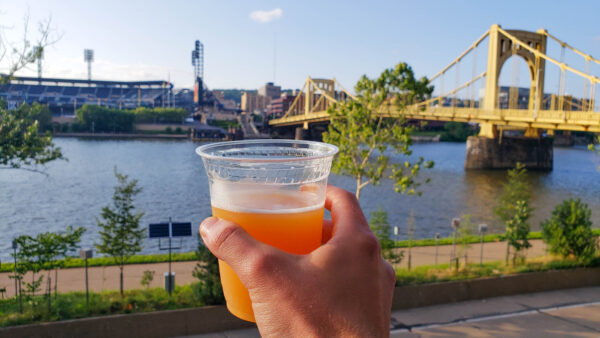 Beer with a View at the Allegheny Overlook in Downtown Pittsburgh