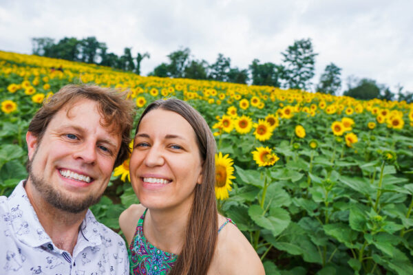 Discover the Burgh at a Sunflower Field Near Pittsburgh