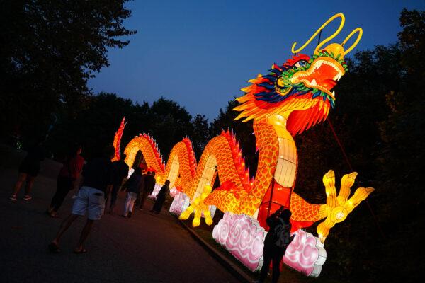 Chinese dragon Asian lantern
