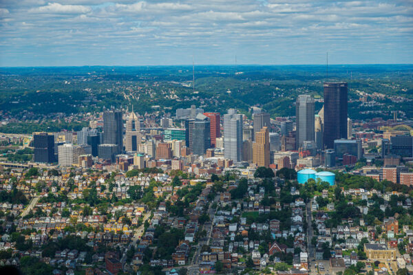Pittsburgh from a Helicopter