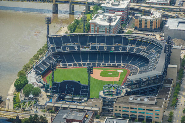 PNC Park from a Helicopter Flight with Vortex