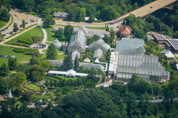 Phipps Conservatory from the Air